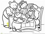 Goldilocks and the Three Bears Coloring Pages Preschool Color Goldilocks and the Three Bears