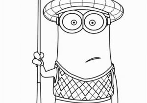 Golf Bag Coloring Page Kevin is One Of the Gru S Minions and He is Often Wearing His Golf