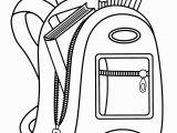 Golf Bag Coloring Page School Bag Drawing at Getdrawings
