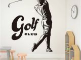 Golf Course Wall Murals Sports Game Golf Waterproof Wall Stickers for Bedroom Vintage Golf