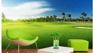 Golf Mural Wallpaper 3d Wallpaper 3d Angepasst Tapete Golf Wiese Landschaft Wandmalereien