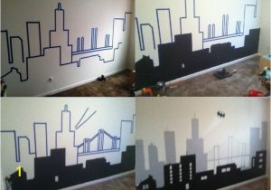 Gotham City Wall Mural City Wall Paintings