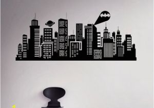 Gotham City Wall Mural Gotham City Wall Decal Batman Night City Vinyl Sticker Ics Home