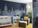 Gotham City Wall Mural New York City Skyline Mural by Abi Daker for Donjiro Ban
