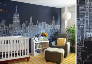 Gotham City Wall Mural New York City Skyline Mural by Abi Daker for Donjiro Ban