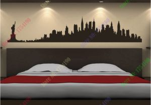 Gotham City Wall Mural New York City Skyline Wall Stickers City Silhouette Buildings Art