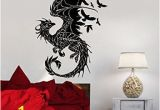 Gothic Wall Murals Vinyl Decal Wall Sticker Dragon Birds Fantasy Fairytale Gothic Decor