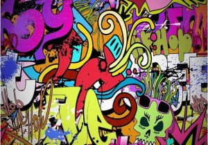 Graffiti Brick Wall Mural Graffiti Wall Backdrop Puter Printed Graphy