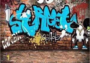 Graffiti Brick Wall Mural Shah 3d Wallpaper Mural Floor Sticker for Walls 3d Custom
