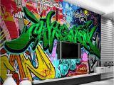 Graffiti Murals for Bedrooms Beibehang 3d Wallpaper Street Graffiti Background 3d Living Room