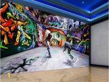 Graffiti Murals for Bedrooms Tanzen Jugend Graffiti Mural Hintergrund 3d Stereoskopische Tapete