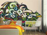 Graffiti Murals for Bedrooms Vibrant Psychedelic Graffiti Wall Mural Walls that Talk