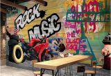 Graffiti Wall Mural Decals Custom Wallpaper Murals Modern Graffiti Art Motorcycle Background