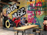 Graffiti Wall Mural Decals Custom Wallpaper Murals Modern Graffiti Art Motorcycle Background