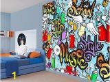Graffiti Wall Mural Decals Details About Cool Kids Graffiti Music Style Hip Hop School