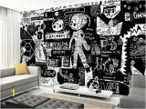 Graffiti Wall Mural Decals Graffiti Black and White Walls Murals Pinterest