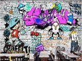 Graffiti Wall Mural Sticker Afashiony Custom 3d Wall Mural Wallpaper Fashion Street Art