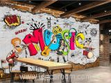 Graffiti Wall Mural Wallpaper Animated Band Music Cartoon Ic Art Wall Murals Wallpaper