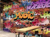 Graffiti Wall Mural Wallpaper Custom Wall Mural 3d Embossed Brick Wallpaper Graffiti Art