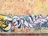 Graffiti Wall Mural Wallpaper Rustic Wall Graffiti Wallpaper Wall Mural In 2020