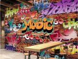 Graffiti Wall Murals for Bedrooms Custom Wall Mural 3d Embossed Brick Wallpaper Graffiti Art