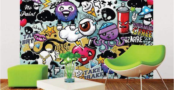 Graffiti Wall Murals for Bedrooms Mural Graffiti Monster Wall In 2019