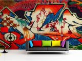 Graffiti Wall Murals for Bedrooms Red White and Blue Graffiti Mural Wallpaper
