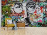 Graffiti Wall Murals for Bedrooms Self Adhesive] 3d Beatles Graffiti 55 Wall Paper Mural Wall