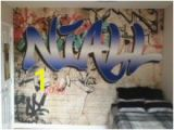 Graffiti Wall Murals Uk Custom Name Graffiti Wallpaper Mural toddler Nixon