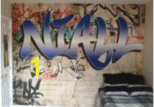 Graffiti Wall Murals Uk Custom Name Graffiti Wallpaper Mural toddler Nixon