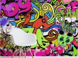 Graffiti Wall Murals Wallpaper Funky Wall Art Mural