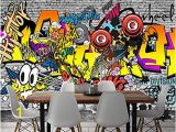 Graffiti Wall Murals Wallpaper Mbwlkj European and American Trend Graffiti Ktv Bar