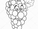 Grape Coloring Pages to Print Coloring Book Coloring Page Cartoon Grapes Character Happy