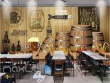 Graphic Design Wall Murals Rustic Graphic Design with Barrels Art Wall Murals Wallpaper