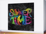 Graphic Design Wall Murals Summer Time Wall Mural
