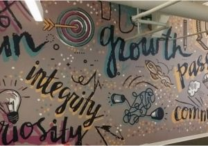 "Graphic Murals for Walls Canvastac Wall Mural ""fun Growth Integrity Passion"