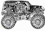 Grave Digger Monster Truck Coloring Pages Grave Digger Monster Truck