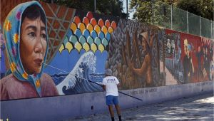 Great Wall Mural Los Angeles L A S Judith Baca Wins $50 000 Award Breaking Ground for