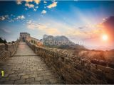 Great Wall Of China Mural Great Wall Of China Sunset Wallpaper Mural