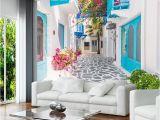 Greek Murals for Walls Custom 3d Mural Wallpaper Greece Santorini Love Sea Mural Wallpaper