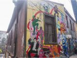 Greek Murals or Wall Paintings Often Valparaiso Street Art In Chile
