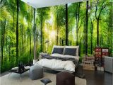 Green forest Wall Mural Doe Het Zelf Behang Gereedschap Access Green Shades