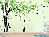Green Monster Mural Großhandel Große Baum Wandaufkleber Wohnzimmer Abnehmbare Pvc