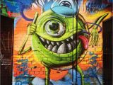 Green Monster Mural Monsters Inc Art Streetart