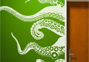Green Monster Wall Mural Octopus Tentacle Wall Decal Inspiration Sea Monster Squid