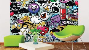 Green Monster Wall Mural Ohpopsi Graffiti Monster Wall Mural Wals0004