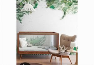 Green Monster Wall Mural Tropical Green Leaf Removable Wallpaper Leaves Jungle