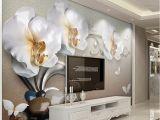 Grey Petals Wall Mural Beibehang Foto Papel De Parede Papel De Parede Personalizado