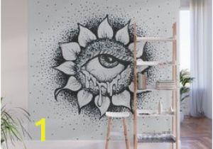 Grey Petals Wall Mural Droopy Wall Murals