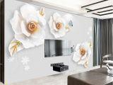 Grey Petals Wall Mural Fototapete Wand Weiß Und Tapete Nr Dec 5151 Uwalls